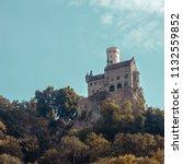 view to schloss lichtenstein ... | Shutterstock . vector #1132559852