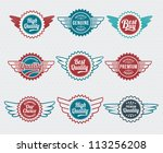 retro  vintage  badge and label ... | Shutterstock .eps vector #113256208