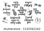 set of phrases for summer and... | Shutterstock .eps vector #1132562162