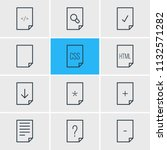 illustration of 12 paper icons...