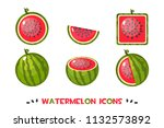 different shapes watermelon...