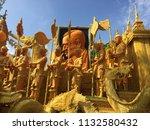 ubon ratchathani candle...   Shutterstock . vector #1132580432