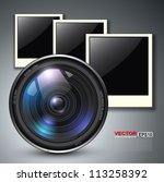 Lens With Photo Frames  Vector...