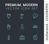modern  simple vector icon set... | Shutterstock .eps vector #1132585592