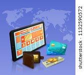 internet shopping online... | Shutterstock .eps vector #1132590572