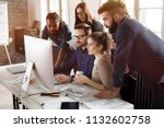 group of young designers... | Shutterstock . vector #1132602758
