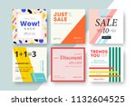 modern promotion square web... | Shutterstock .eps vector #1132604525