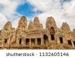 ancient bayon temple ruins.... | Shutterstock . vector #1132605146