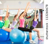 Fitness   Young Women Doing...