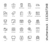 shopping and commerce icons  | Shutterstock .eps vector #1132607348