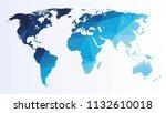 polygonal world map | Shutterstock .eps vector #1132610018