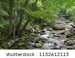 river water flowing through... | Shutterstock . vector #1132612115
