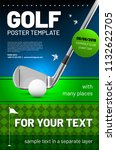 golf poster template with... | Shutterstock .eps vector #1132622705