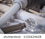 detail of curtain rod end   Shutterstock . vector #1132624628