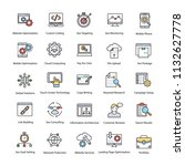 web and seo flat vector icons... | Shutterstock .eps vector #1132627778