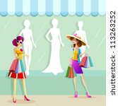 illustration of fashionable... | Shutterstock .eps vector #113263252
