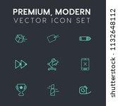 modern  simple vector icon set... | Shutterstock .eps vector #1132648112