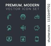 modern  simple vector icon set...   Shutterstock .eps vector #1132649702
