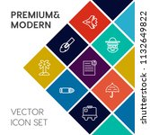 modern  simple vector icon set... | Shutterstock .eps vector #1132649822