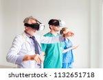 portrait of doctor team are...   Shutterstock . vector #1132651718