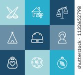 modern  simple vector icon set... | Shutterstock .eps vector #1132652798