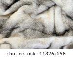 White Fur Mink Background...