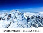 winter mountain peak snow... | Shutterstock . vector #1132656518