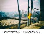 from a worn window of an... | Shutterstock . vector #1132659722