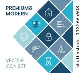 modern  simple vector icon set... | Shutterstock .eps vector #1132665608