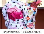 young girl wearing japanese...   Shutterstock . vector #1132667876