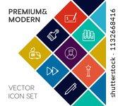 modern  simple vector icon set... | Shutterstock .eps vector #1132668416
