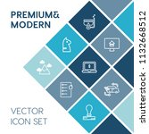 modern  simple vector icon set... | Shutterstock .eps vector #1132668512