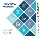 modern  simple vector icon set... | Shutterstock .eps vector #1132674056