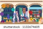 asian street market with... | Shutterstock .eps vector #1132674605