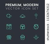 modern  simple vector icon set...   Shutterstock .eps vector #1132676312