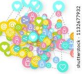 social media marketing ... | Shutterstock .eps vector #1132677932