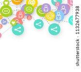 social media marketing ... | Shutterstock .eps vector #1132677938