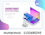 isometric robots man with... | Shutterstock .eps vector #1132680245