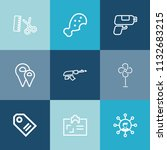modern  simple vector icon set... | Shutterstock .eps vector #1132683215