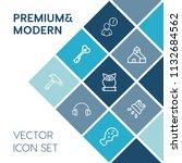 modern  simple vector icon set... | Shutterstock .eps vector #1132684562