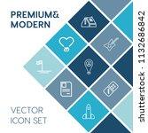 modern  simple vector icon set... | Shutterstock .eps vector #1132686842