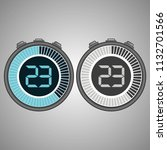 electronic digital stopwatch.... | Shutterstock .eps vector #1132701566
