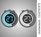 electronic digital stopwatch.... | Shutterstock .eps vector #1132701572