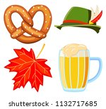 colorful cartoon oktoberfest 4...   Shutterstock .eps vector #1132717685