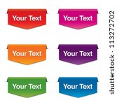 Vector Colorful Banners  Labels