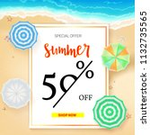 vacation selling  poster with... | Shutterstock . vector #1132735565