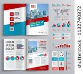 business brochure template... | Shutterstock .eps vector #1132740872