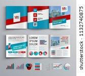 business brochure template... | Shutterstock .eps vector #1132740875