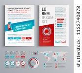business brochure template... | Shutterstock .eps vector #1132740878