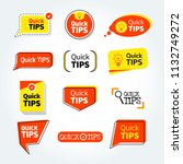 quick tips mega set  helpful... | Shutterstock .eps vector #1132749272